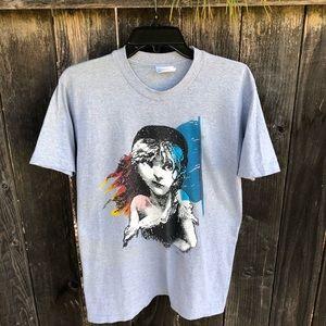 🎭🎭 Vintage 80s Les Miserables tee shirt